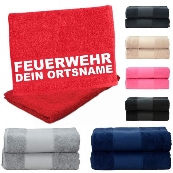 Duschtuch versch. Farben I FW +Ortsname