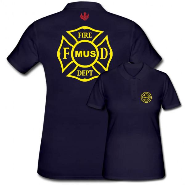 Poloshirt Frauen I FD Signet +Ortsname