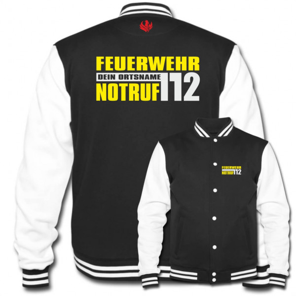 Collegejacke I FW Notruf 112 +Ortsname