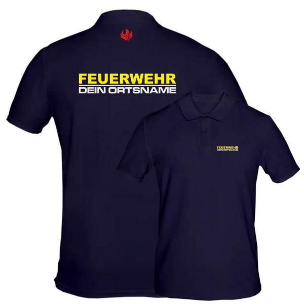 Poloshirt Männer I Feuerwehr +Ortsname