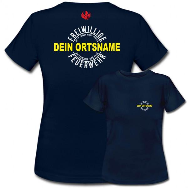 Tshirt Frauen I FFW +Ortsname
