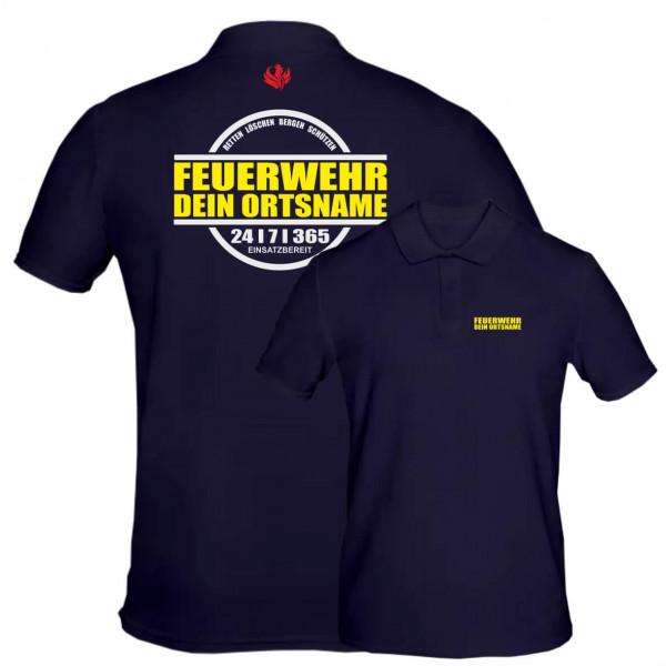 Poloshirt Männer I 24/7/365 +Ortsname