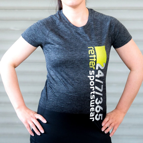 Retter I Sport-Shirt Frauen Grau