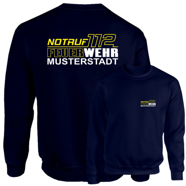 Pullover I Notruf 112 +Ortsname