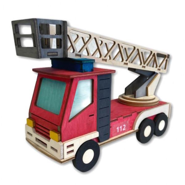 Feuerwehr Holzbastelset I DLK
