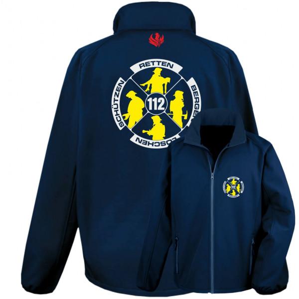 Softshelljacke Männer I Feuerwehr Logo