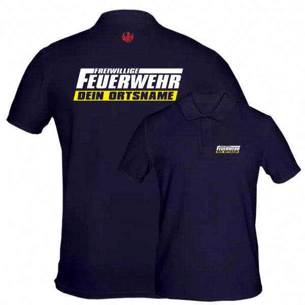 Poloshirt Männer I FFW +Ortsname