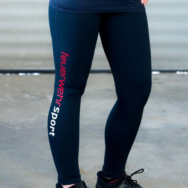 Feuerwehr I Sport-Leggings Frauen Blau