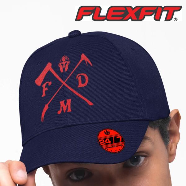 Flexfit® Cap flexfit I Firefighter +Ortsname