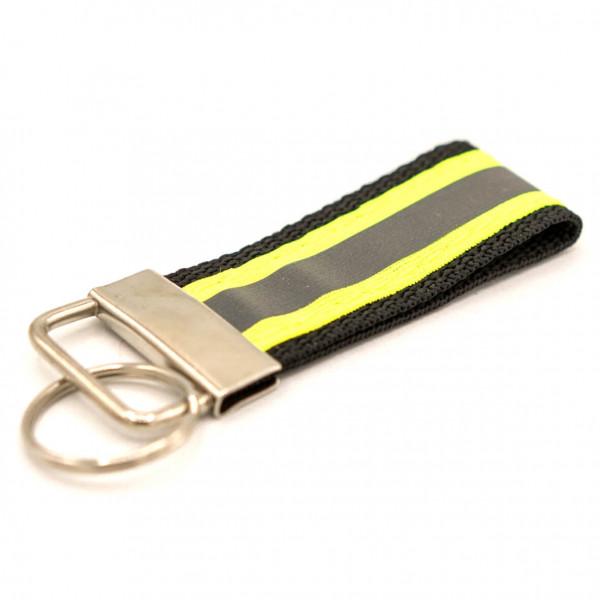 Schlüsselanhänger I Schwarz Gelb Reflex
