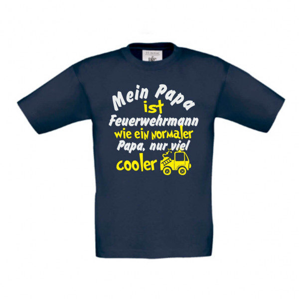 Kinder Shirt kurz I Papa Feuerwehrmann