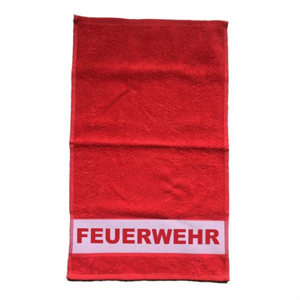 Duschtuch Rot I Feuerwehr