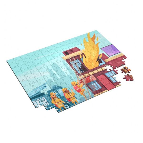 Feuerwehr Kinder Puzzle I Hausbrand