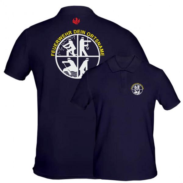 Poloshirt Männer I FW Signet +Ortsname