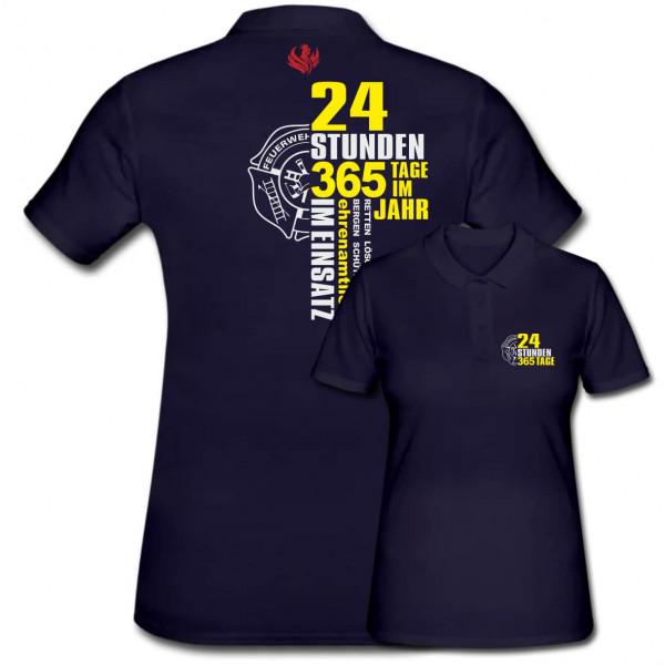 Poloshirt Frauen I 24h 365 Tage