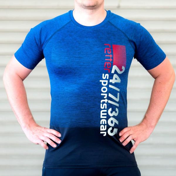 Retter I Sport-Shirt Männer Blau