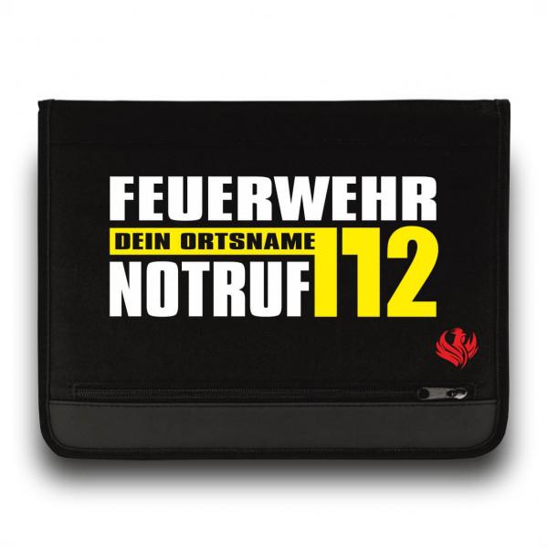 Schreibmappe I FW Notruf 112 +Ortsname