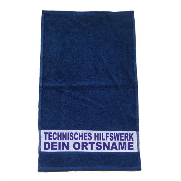 Handtuch Blau I THW +Ortsname