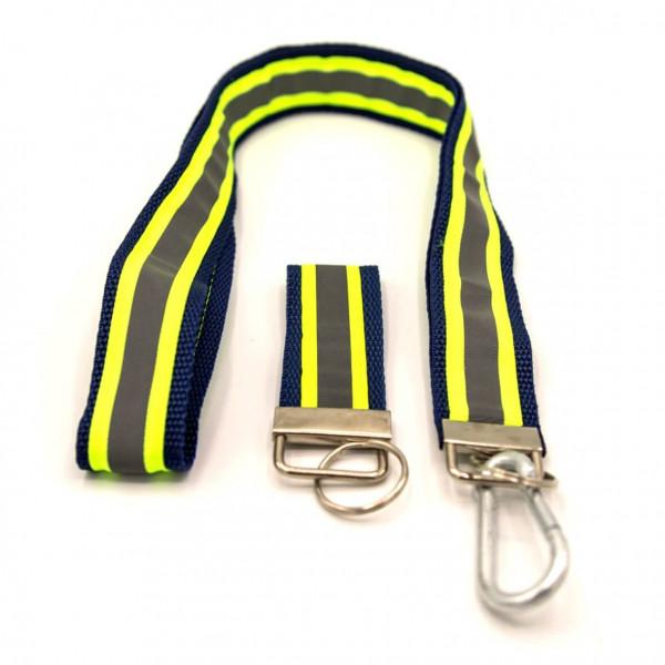 Schlüsselband Set I Navy Gelb Reflex