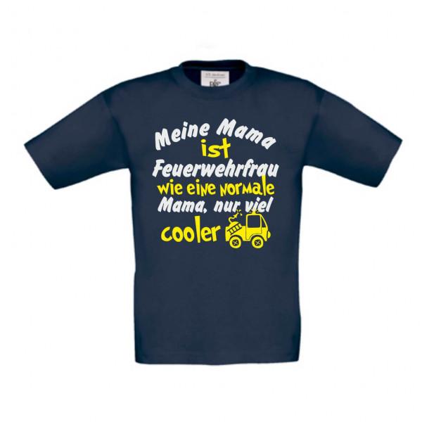 Kinder Shirt kurz I Mama Feuerwehrfrau