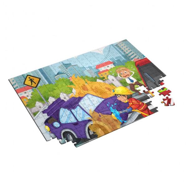 Feuerwehr Kinder Puzzle I Verkehrsunfall