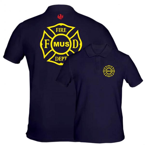 Poloshirt Männer I FD Signet +Ortsname