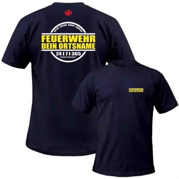 Tshirt Männer I 24/7/365 +Ortsname