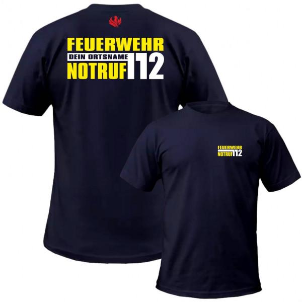 Tshirt Männer I Notruf 112 +Ortsname