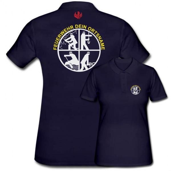 Poloshirt Frauen I FW Signet +Ortsname