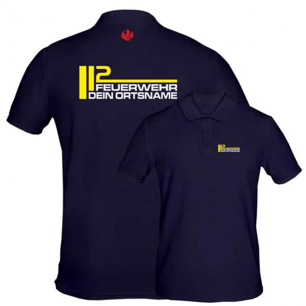 Poloshirt Männer I FW 112 +Ortsname