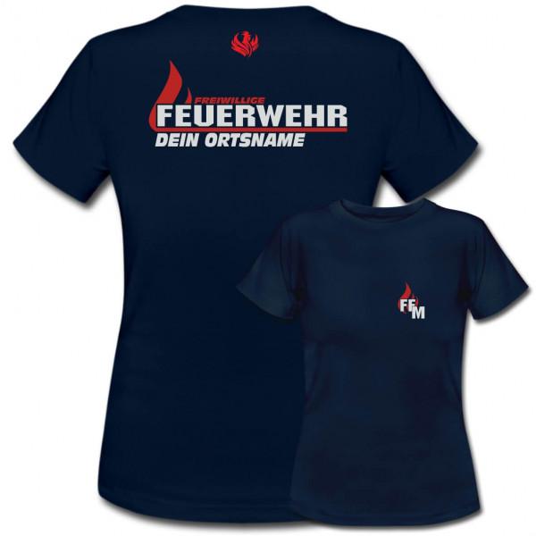 Tshirt Frauen I FW Flamme +Ortsname
