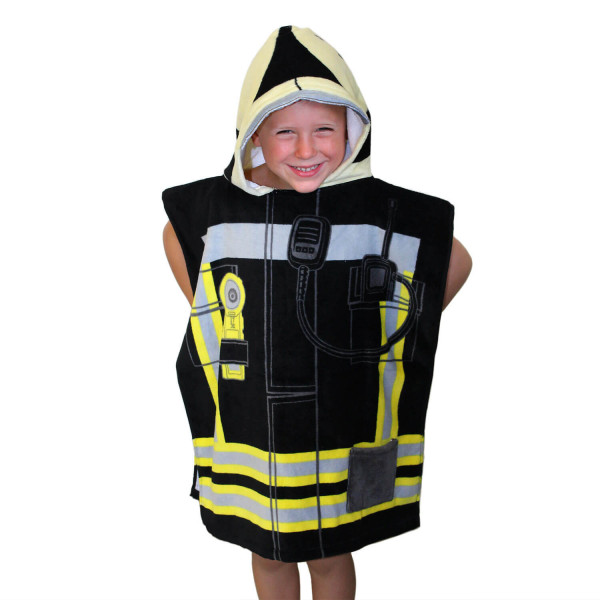Feuerwehr I Kinder Bade Poncho