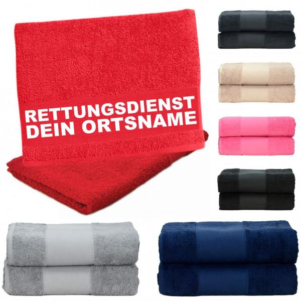 Handtuch versch. Farben I RD +Ortsname