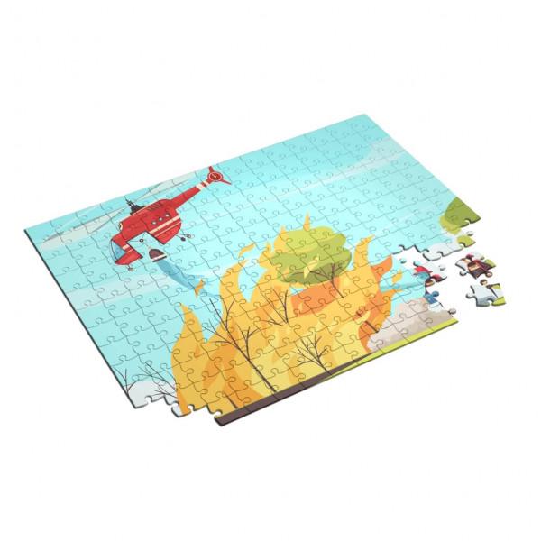 Feuerwehr Kinder Puzzle I Helikopter