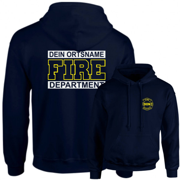 Hoodie I Fire Dept. +Ortsname