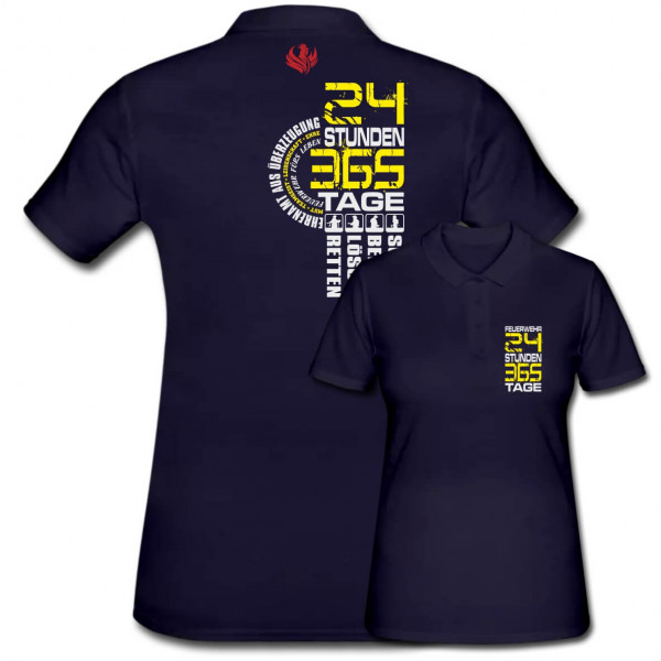 Poloshirt Frauen I 24/7/365
