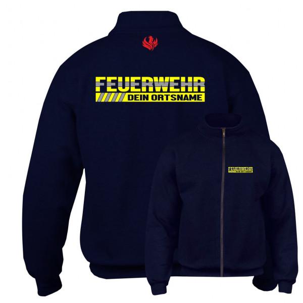 Sweatjacke I Feuerwehr +Ortsname