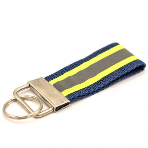 Schlüsselanhänger I Navy Gelb Reflex