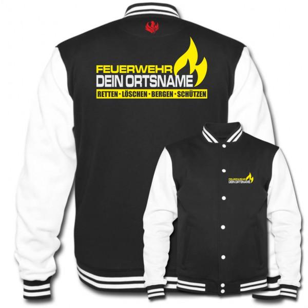Collegejacke I FW Flamme +Ortsname