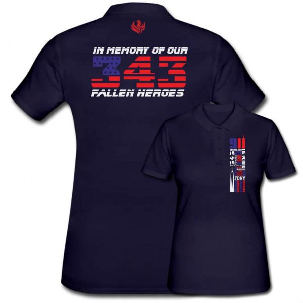 Poloshirt Frauen I Remember 343 9/11