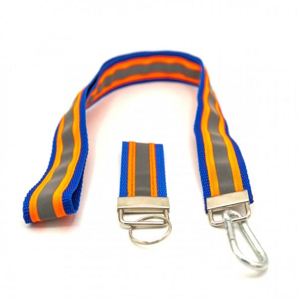 Schlüsselband Set I JFW Blau Orange Reflex