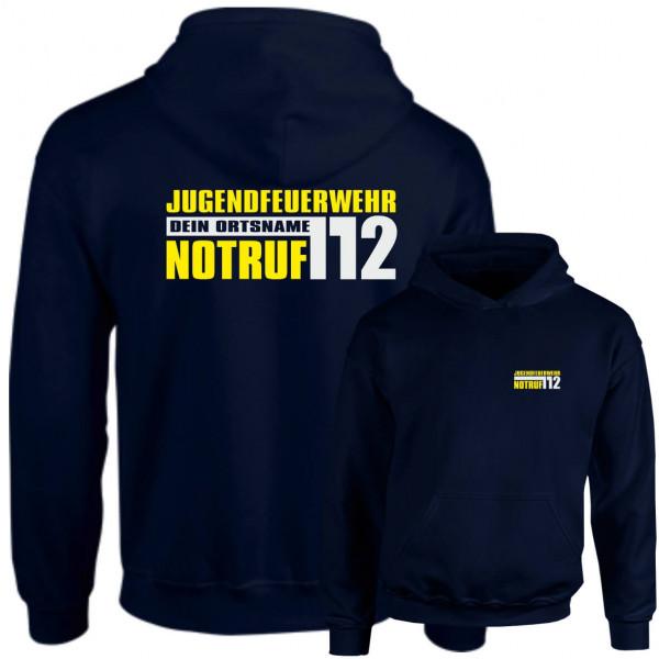 Hoodie JFW I JFW Notruf 112 +Ortsname