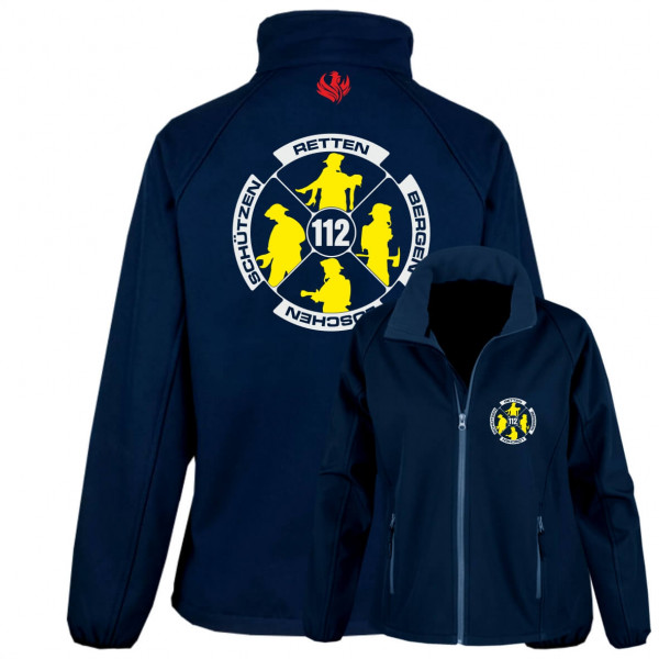 Softshelljacke Frauen I Feuerwehr Logo
