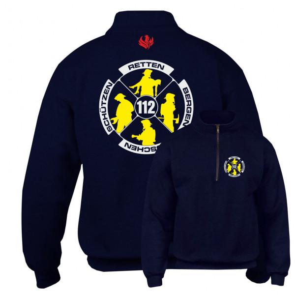 Kragenpullover 1/4 Zip I Feuerwehr Logo