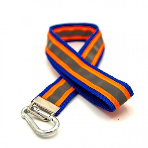 Schlüsselband I JFW Blau Orange Reflex