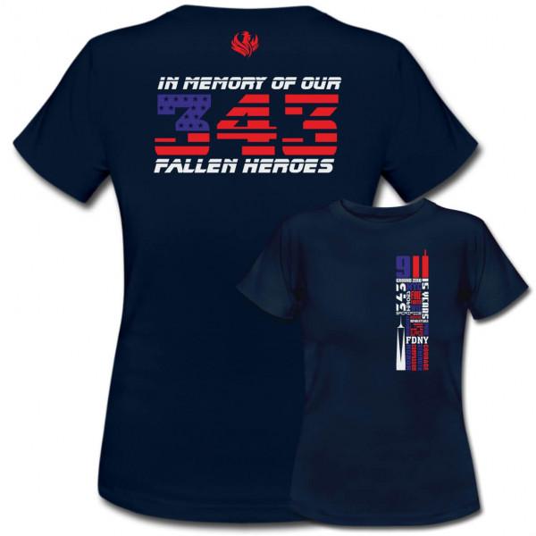 Tshirt Frauen I Remember 343 - 9/11