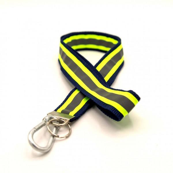 Schlüsselband I Navy Gelb Reflex