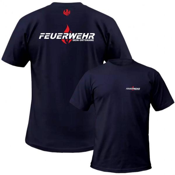 Tshirt Männer I Flamme +Ortsname
