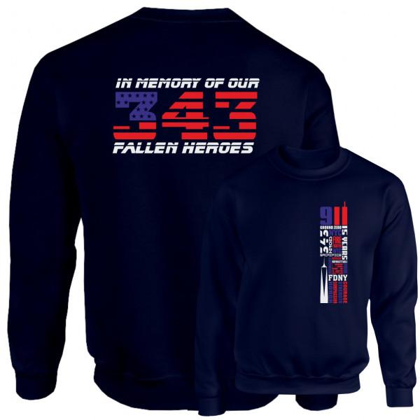 Pullover I Remember 343 - 9/11