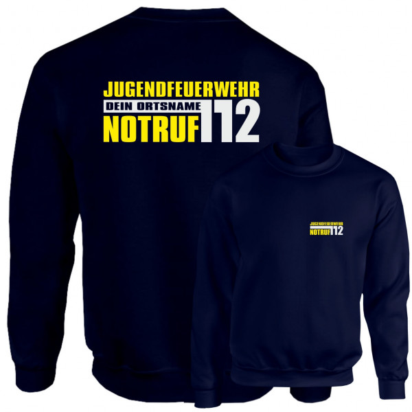Pullover JFW I JFW Notruf 112 +Ortsname
